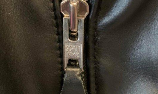 Zipper on a Schott jacket