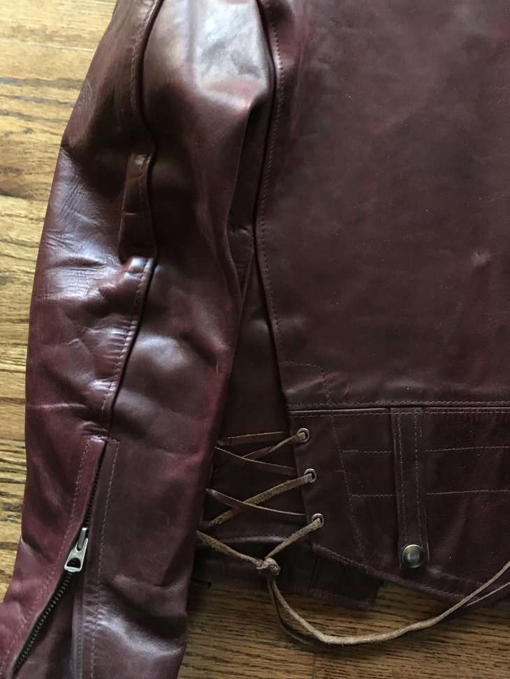 Sleeve and back of a Chips Highway Patrol jacket