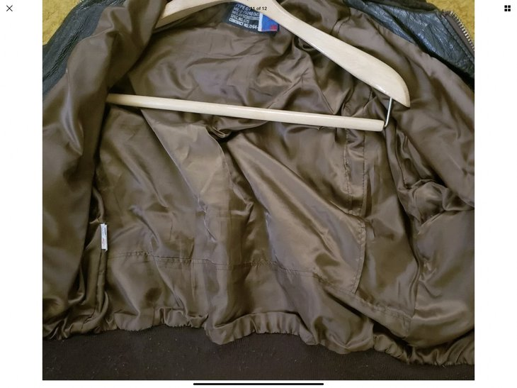 Liner inside a Schott G-1 flight jacket