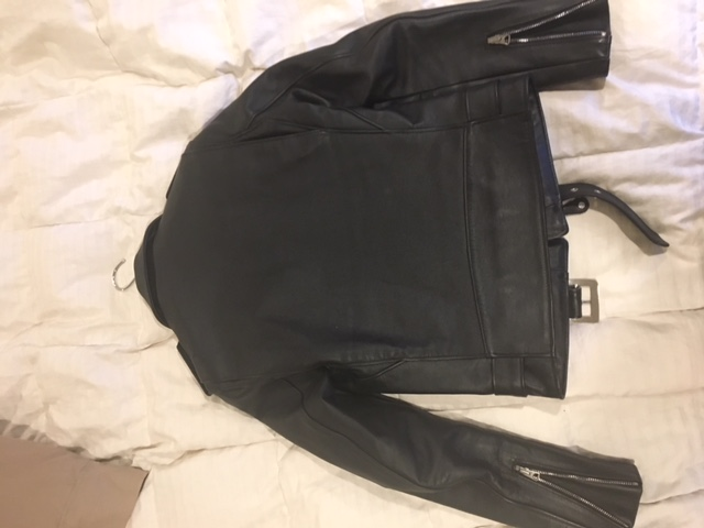 Back of a Perfecto 613 leather jacket