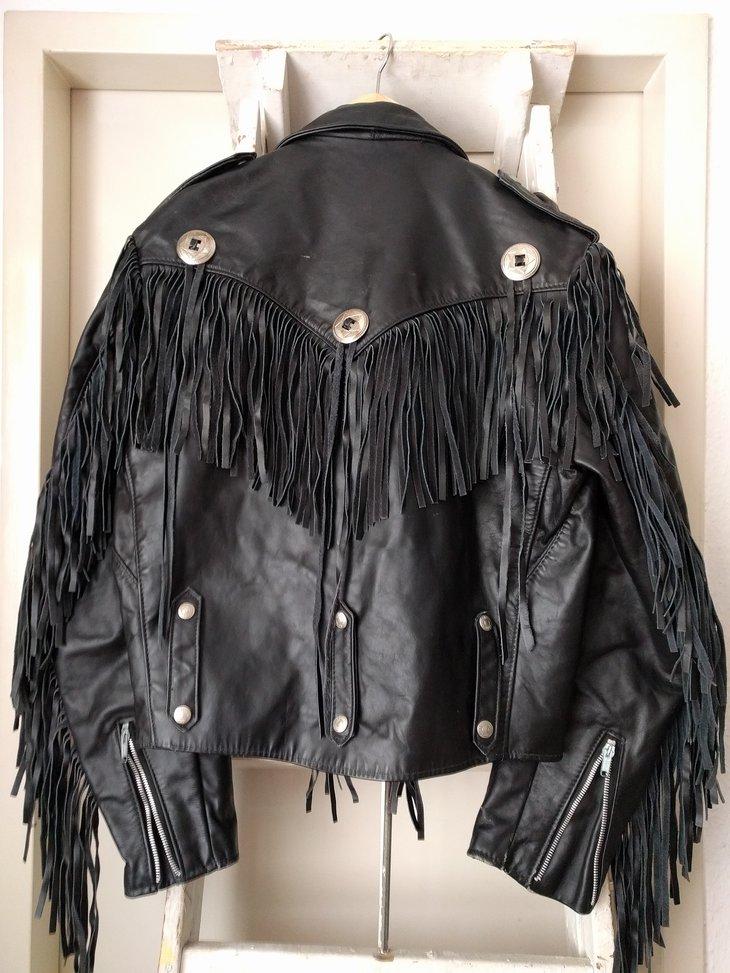 Schott Sportswear fringe jacket, size 40, back
