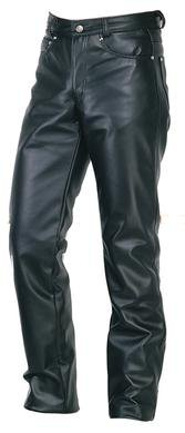 Boot Cut Leather Jeans