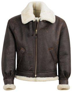 257S - Classic B-3 Sheepskin Leather Bomber Jacket