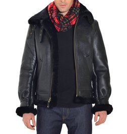 711b8b9c0fb 257S - Classic B-3 Sheepskin Leather Bomber Jacket