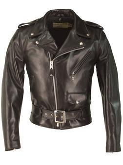 618HH - Horsehide Perfecto® Leather Jacket (Black)