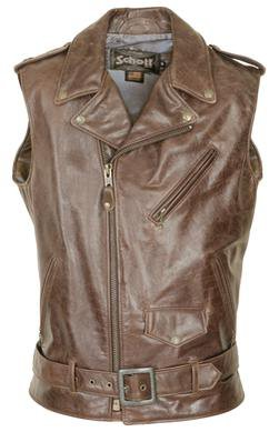 """626V - Midweight Cowhide """"Perfecto"""" Motorcycle Vest"""