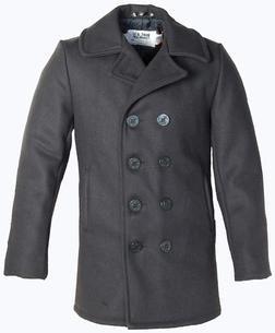 740 - Classic Melton Wool Navy Pea Coat