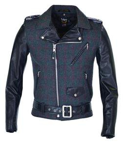 773UST - Wool-Genuine Cowhide Leather Jacket