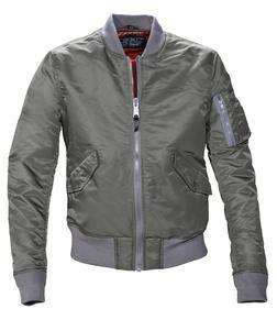 928J - Slim Fit Nylon Flight Jacket (Khaki)