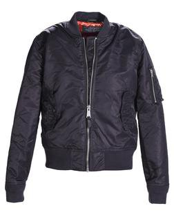 928JW - Women's Nylon Flight Jacket (Charcoal)