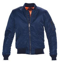 9628 - Men's Nylon Flight Jacket (Navy)
