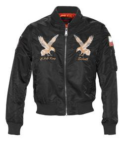 9722 - Men's Nylon MA-1 Flight Jacket (Black)