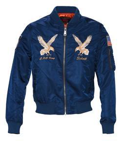 9722 - Nylon MA-1 Flight Jacket (Navy)