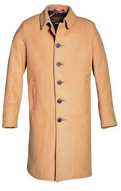 Style C729NE	Single Breasted Officer's Coat Front Camel