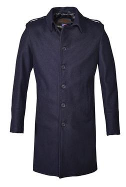 C729 - Single Breasted Wool Officer's Trenchcoat