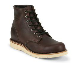 "M16CD - Chippewa Boots 6"" Plain Toe Wedge (Cordovan)"