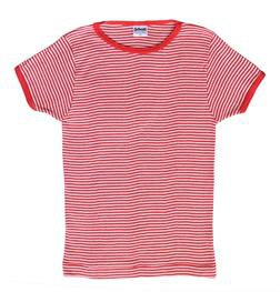 K507W - Women's Short Sleeve Striped Crew Neck