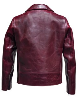 60b41746d126 p623h Burgandy frt. P623H. HORWEEN HORSEHIDE CLEAN PERFECTO LEATHER JACKET