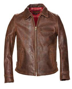 Red Brown Leather Jacket