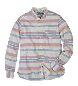 SH1323 - Lightweight Fine Weave Cotton Gauze Horizontal Striped Shirt