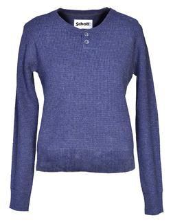 SW611W - Women's Waffle Henley Sweater