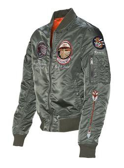 9723 - Men's Nylon Flight Jacket (Sage)
