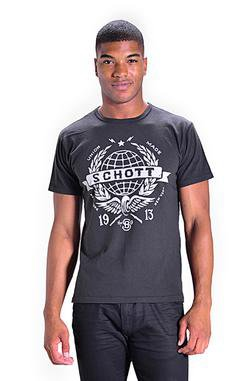 TWRLD1 - Heavy Weight Cotton Tee Made in USA (Black)