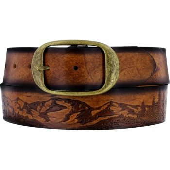 30604 - Eagle and Sun Etching Belt