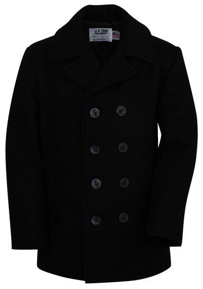 Classic Melton Wood Pea Coat for Boys - Pea Coat