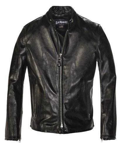 Cowhide Casual Racer Leather Jacket 654