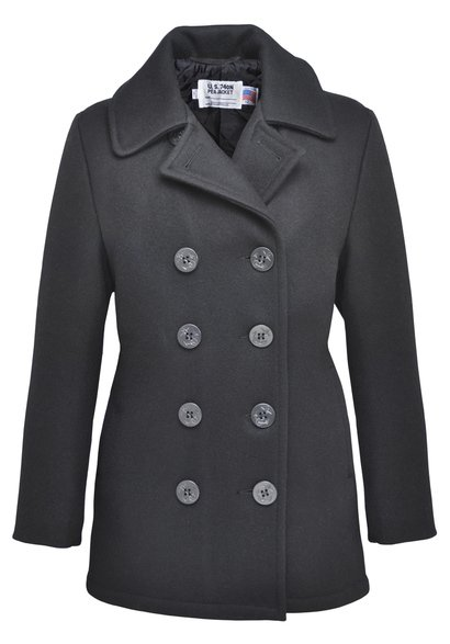 750W - Classic 32 Oz. Melton Wool Pea Coat for Women